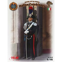 ICM Italian Carabinier Plastic Model Military Figure Kit 1/16 Scale #16003