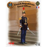 ICM French Republican Guard Officer Plastic Model Military Figure Kit 1/16 Scale #16004