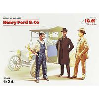 ICM Henry Ford & Company Plastic Model Celebrity Figure 1/24 Scale #24003