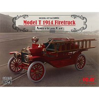 ICM Model T 1914 Firetruck American Car Plastic Model Car Kit 1/24 Scale #24004