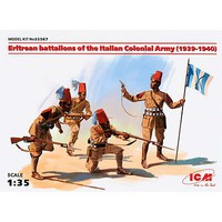 ICM Eritrean Battalion of the Italian Army Plastic Model Military Figure Kit 1/35 Scale #35567