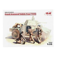 ICM French Armor Crew 1940 Plastic Model Military Figure Kit 1/35 Scale #35615