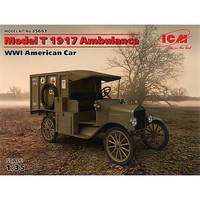 ICM Model T 1917 Ambulance WWI American Car Plastic Model Military Vehicle Kit 1/35 #35661