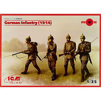 ICM German Infantry 1914 Plastic Model Military Figure Kit 1/35 Scale #35679