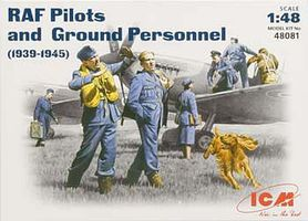 ICM 1/48 WWII RAF Pilots & Ground Personnel (Re-Issue)