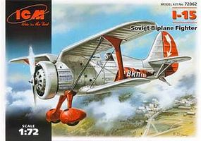 ICM I-15 Soviet Biplane Fighter Plastic Model Airplane Kit 1/72 Scale #72062