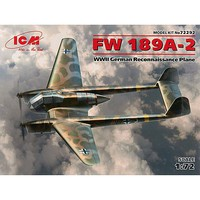 ICM FW 189A-2 WWII German Reconnaissance Plan Plastic Model Airplane Kit 1/72 Scale #72292
