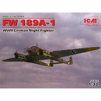 ICM FW 189A-1 WWII German Night Fighter Plastic Model Airplane Kit 1/72 Scale #72293