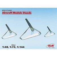 ICM Aircraft Model Stand 3pcs 1/144 1/72 Plastic Model Display Case 1/48 Scale #a001