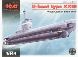 ICM U-Boat Type XXIII WWII Submarine Plastic Model Submarine Kit 1/144 Scale #s004
