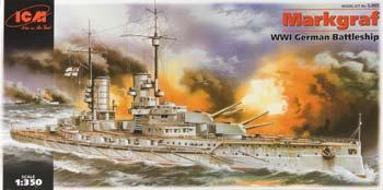 ICM Markgraf WWI German Battleship Plastic Model Battleship Kit 1/350 Scale #s005