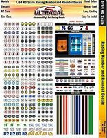 Innovative UltraCal Hi-Def Decals- Racing Numbers & Roundels Slot Car Decal 1/64 Scale #3100