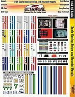 Innovative 1/64 UltraCal Hi-Def Decals- Racing Stripes & Roundels Slot Car Decal #3103