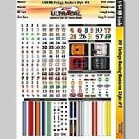 Innovative 1/64 UltraCal Hi-Def Decals- Vintage Racing Numbers Stlye #2 Slot Car Decal #3125