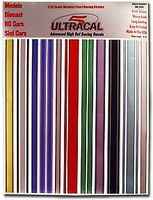 Innovative 1/24 UltraCal Hi-Def Decals- Metallic Pearl Racing Stripes Slot Car Decal #3407