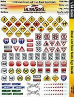 Innovative 1/24 UltraCal Hi-Def Decals- Street & Train Track Signs Slot Car Decal #3450