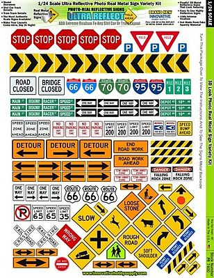 Innovative Hobby Supply 1/24 Ultra Reflect PhotoReal Metal Signs Variety -- Slot Car Decal -- #7400