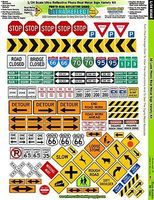 Innovative 1/24 Ultra Reflect PhotoReal Metal Signs Variety Slot Car Decal #7400