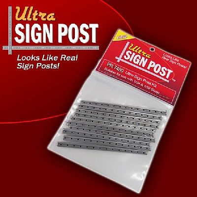 Innovative Hobby Supply 1/24 & 1/32 Ultra Sign Plastic Posts (10) for 7300 & 7400 -- Slot Car Part -- #7450