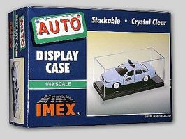 Imex Auto and Military Showcase Clear Base (2) Plastic Model Display Case 1/43 #2502