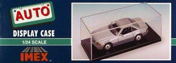 Imex Model Co 1/24-1/25 Scale Auto Showcase (Black Base) -- Plastic Model Display Case -- #2510