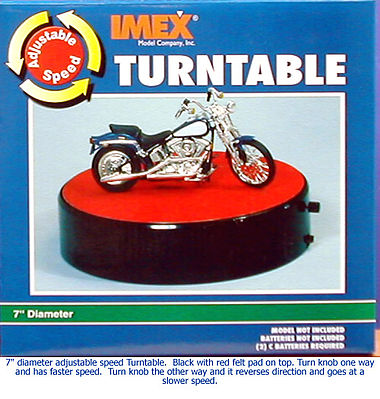 Imex Model Co 7'' Turntable with Adjustable Speed Battery Operated -- Plastic Model Display Stand -- 1/25 -- #2551