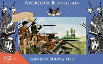 Imex Model Co Revolutionary War American Militia Men (20) -- Plastic Model Military Figure -- 1/32 Scale -- #3201