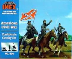 Imex Confederate Cavalry Plastic Model Military Figure 1/72 Scale #504