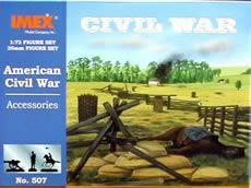 Imex Civil War Accessories Plastic Model Military Diorama Kit 1/72 Scale #507