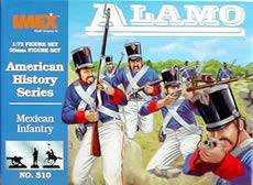 Imex Model Co Mexican Infantry Alamo -- Western Plastic Model Kit -- 1/72 Scale -- #510