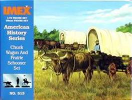 Imex Chuck Wagon and Prairie Schooner Western Plastic Model Kit 1/72 Scale #513