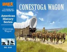 Imex Conestoga Wagon Western Plastic Model Kit 1/72 Scale #518