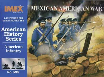 Imex American Infantry Mexican War Plastic Model Military Figure 1/72 Scale #535