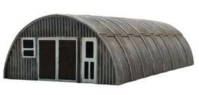 Imex Toms Quonset Hut (Rusty) Assembled Perma-Scene HO Scale Model Railroad Building #6101