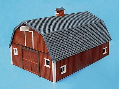 Imex Stengels Barn Assembled Perma-Scene HO Scale Model Railroad Building #6102