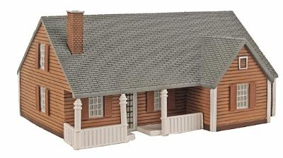 Imex New England Ranch House Assembled Perma-Scene HO Scale Model Railroad Building #6108