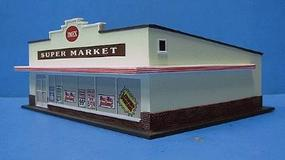 Imex Supermarket Assembled Perma-Scene HO Scale Model Railroad Building #6110
