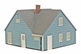 Imex Levittown Model Rancher Assembled HO Scale Model Railroad Building #6112