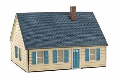 Imex Levittown Model B Assembled Perma-Scene HO Scale Model Railroad Building #6113