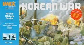 Korean War Set (4 Armies) Plastic Model Military Figure 1/72 Scale #611