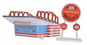 Imex Wetsons Hamburgers Assembled Perma-Scene HO Scale Model Railroad Building #6121