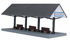 Oyster Bay Station Platform Assembled Perma-Scene HO Scale Model Railroad Structure #6129