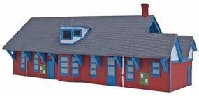 Oyster Bay Station Assembled Perma-Scene HO Scale Model Railroad Building #6130