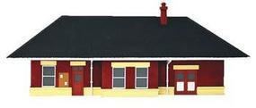Imex Small Town Station Assembled Perma-Scene HO Scale Model Railroad Building #6137