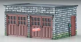 Imex 2-Car Garage Assembled Perma-Scene HO Scale Model Railroad Building #6151