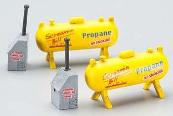 Ho scale propane tank cars