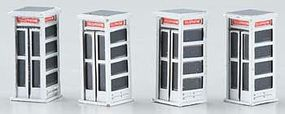 Imex Telephone Booth Assembled Perma-Scene (5) HO Scale Model Railroad Accessory #6158
