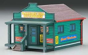 Imex Country General Store Assembled Perma-Scene HO Scale Model Railroad Building #6159