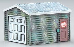 Imex Single-Car Garage Assembled Perma-Scene HO Scale Model Railroad Building #6160