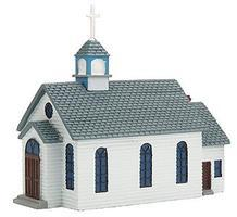 Imex 1st Street Church Assembled Perma-Scene N Scale Model Railroad Building #6303
